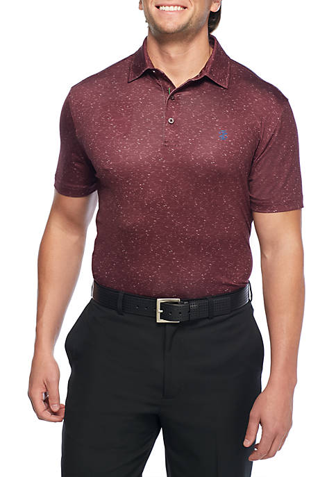 IZOD Short Sleeve Showman Printed Polo