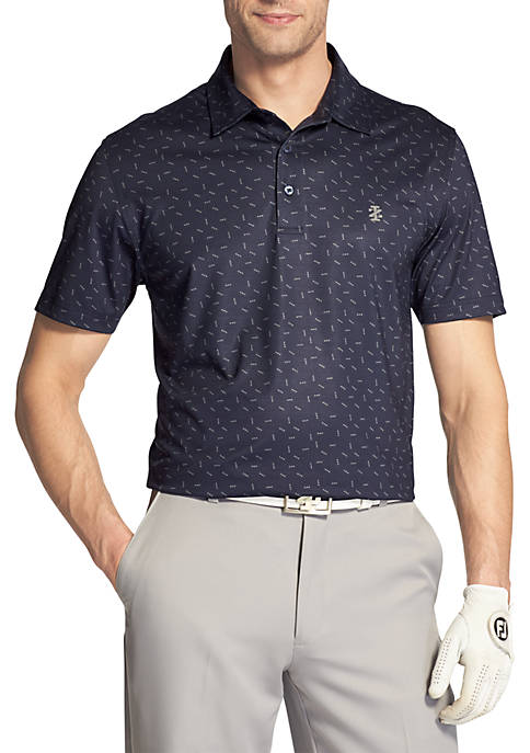 IZOD Short Sleeve Arrows Printed Polo
