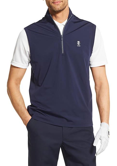 IZOD Golf Knit Quarter Zip Rain Vest
