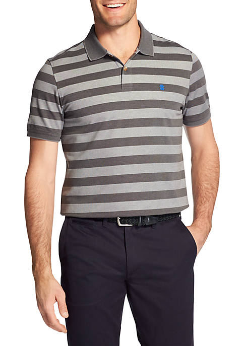 IZOD Short Sleeve Fall Trans Bar Stripe Polo