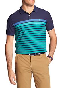 Short Sleeve Fall Trans Engineered Stripe Polo
