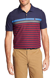 Short Sleeve Fall Trans Engineered Stripe Polo