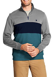 Advantage Performance Stretch Fleece Colorblock Quarter Zip