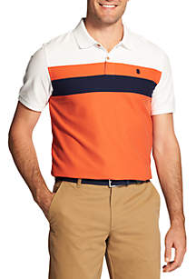 Short Sleeve Advantage Chest Stripe Polo