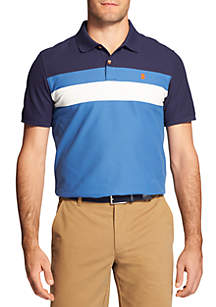 IZOD Short Sleeve Advantage Chest Stripe Polo