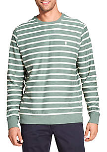 Saltwater Blues Fleece Long Sleeve Crew