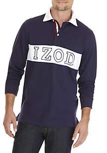 IZOD Long Sleeve Rugby Shirt