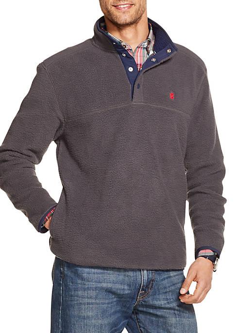 IZOD Fleece Snap Front Pullover