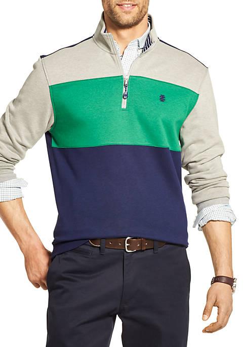 Advantage Performance Fleece Color Block 1/4 Zip Pullover