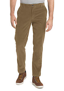 Straight Fit Stretch Corduroy Pants