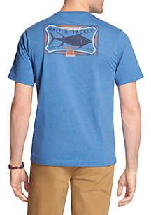 Big & Tall Short Sleeve Fish Back Graphic Tee