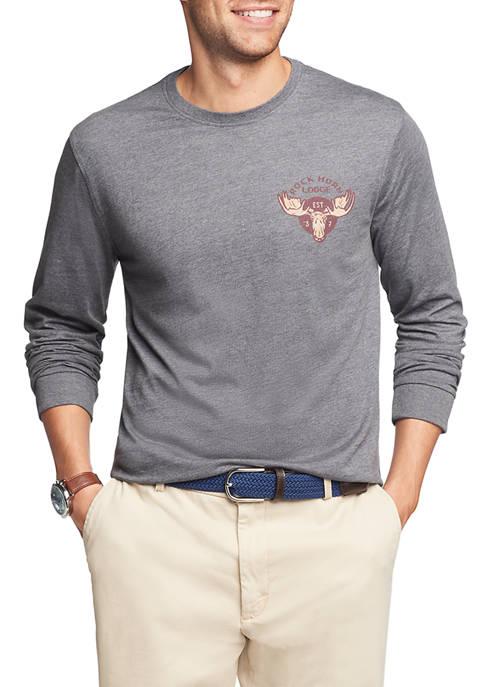 IZOD Mens Salt Water Long Sleeve Graphic T-Shirt