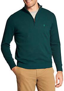 Premium Essentials Quarter Zip Sweater