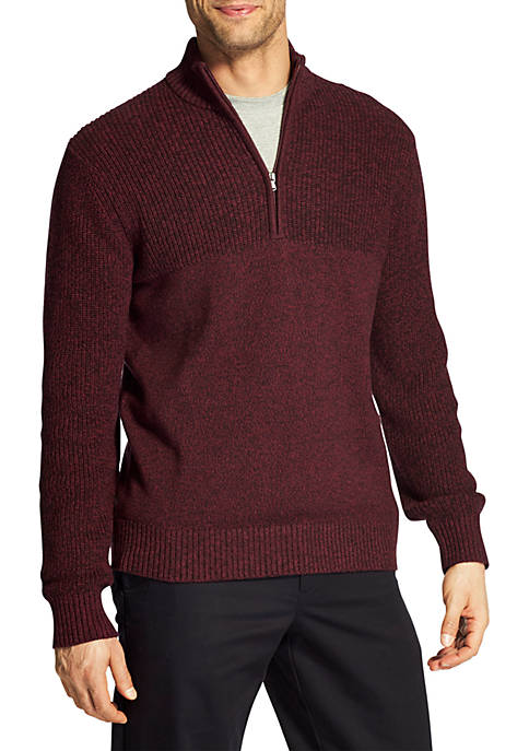 IZOD Newport Marled Quarter Zip Sweater