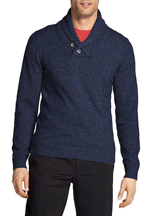 IZOD Premium Essentials Shawl Collar Sweater