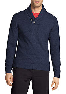 Premium Essentials Shawl Collar Sweater