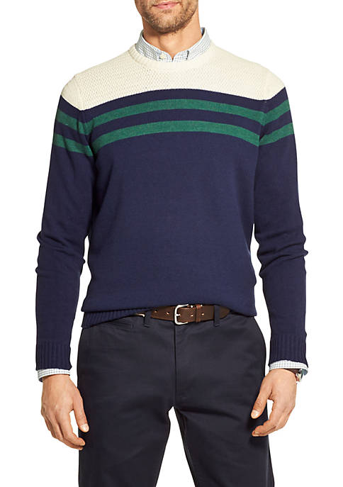 IZOD Striped Crew Neck Sweater