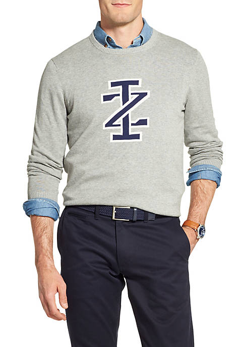 IZOD Logo Crew Neck Sweater