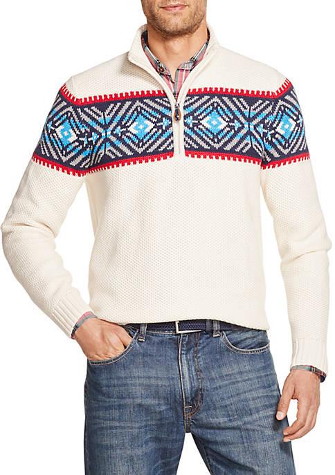 Fair Isle 1/4 Zip Sweater