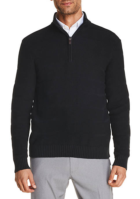 IZOD Premium Essentials Textured 1/4 Zip Sweater