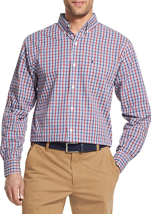 IZOD Premium Essentials Stretch Long Sleeve Button Down