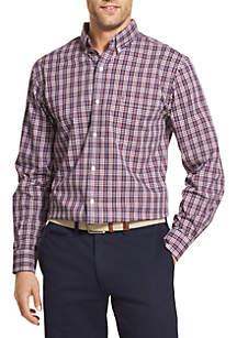Long Sleeve Stretch Essential Plaid Shirt
