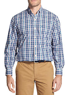 IZOD Long Sleeve Stretch Plaid Shirt