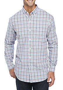 Long Sleeve Stretch Multi Gingham Shirt