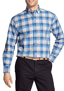 IZOD Medium Plaid Oxford Shirt