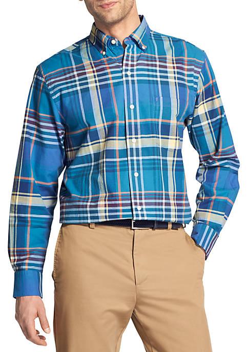 IZOD Large Plaid Oxford Shirt