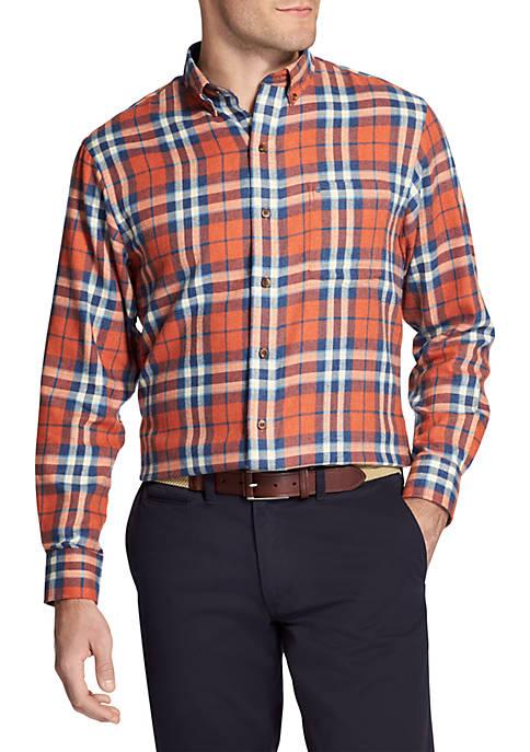 IZOD Flannel Long Sleeve Button Down Shirt