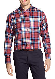 IZOD Flannel Long Sleeve Button Down Shirt