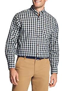 Tartan Long Sleeve Stretch Button Down Shirt
