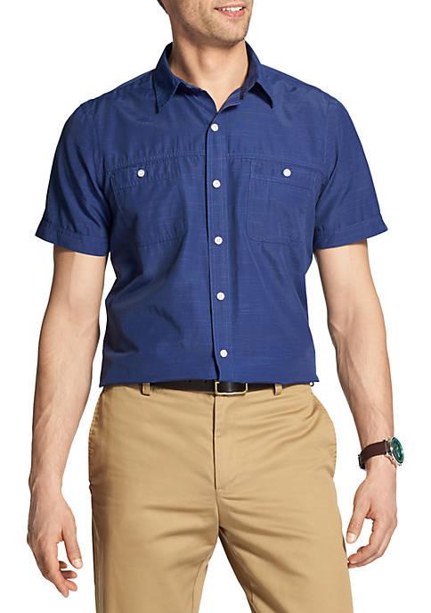 Discount IZOD Short Sleeve Solid Breeze Button Down Shirt supplier