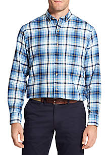IZOD Plaid Flannel Long Sleeve Button Down Shirt