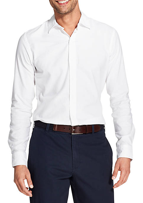 IZOD Slim Saltwater Blues Long Sleeve Button Down