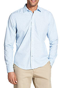 Slim Saltwater Blues Printed Long Sleeve Button Down Shirt