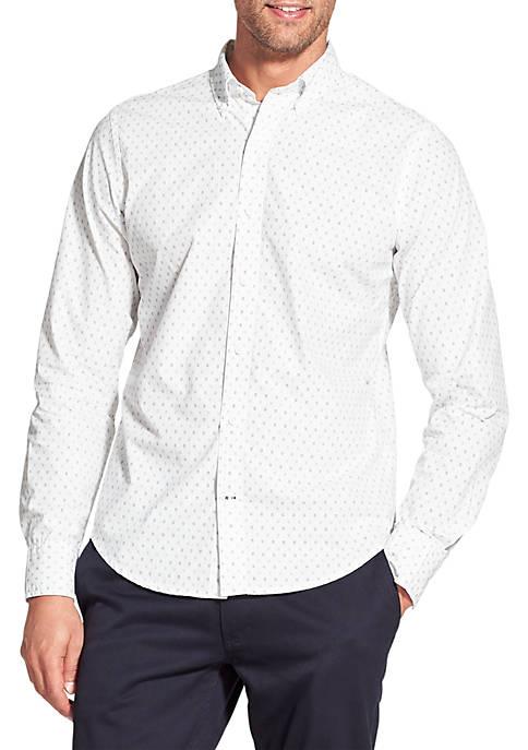 Slim Saltwater White Printed Long Sleeve Button Down Shirt
