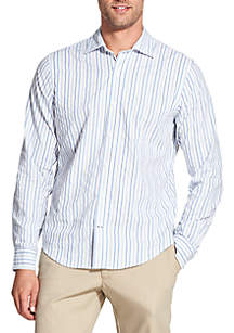 Slim Saltwater Blues Striped Long Sleeve Button Down Shirt