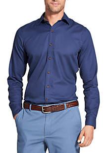 Slim Saltwater Blues Long Sleeve Button Down Shirt