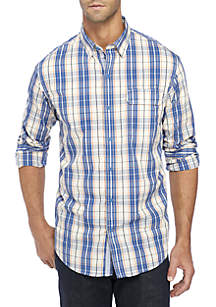 IZOD Large Plaid Woven Shirt