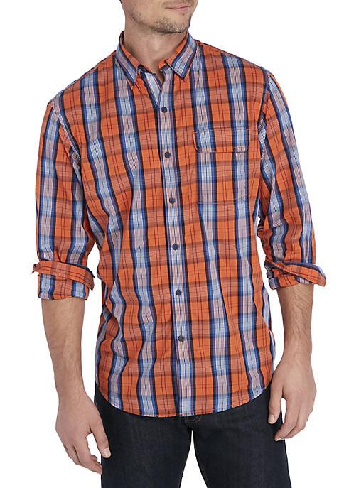 Large Plaid Woven Shirt