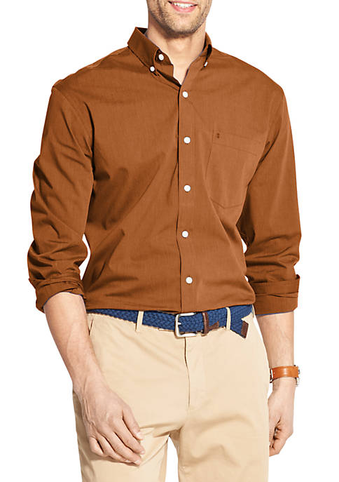 IZOD Premium Essentials Stretch Button Down Shirt