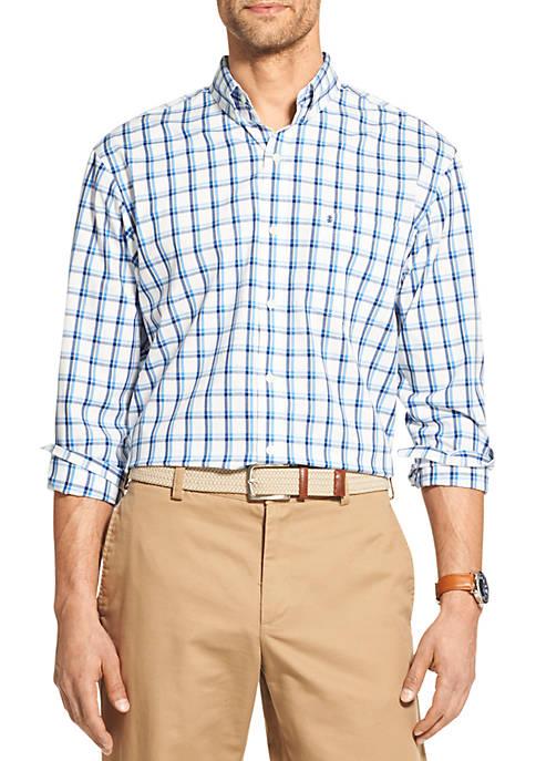 Premium Essentials Stretch Plaid Button Down Shirt