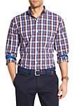 Premium Essentials Stretch Plaid Woven Button Down Shirt