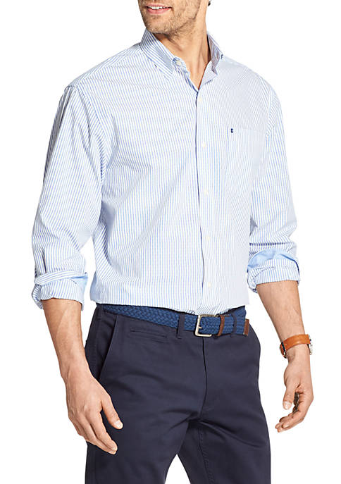 IZOD Premium Essentials Striped Button Down Shirt
