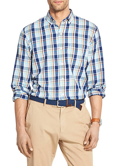 IZOD Plaid Button Down Shirt