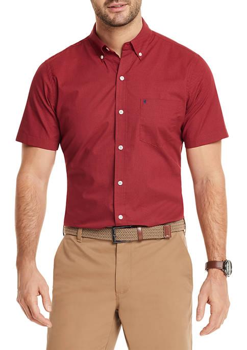 IZOD Advantage Performance Short Sleeve Button Up Shirt