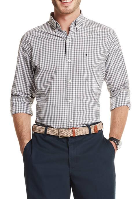 IZOD Advantage Performance Gingham Button Up Shirt