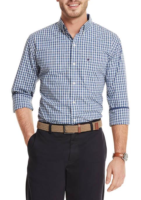 IZOD Advantage Performance Plaid Button Up Shirt